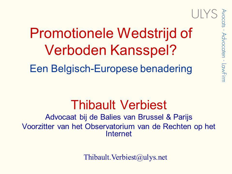 Promotionele Wedstrijd of Verboden Kansspel