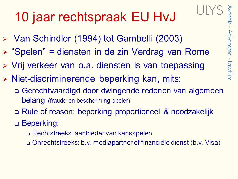 10 jaar rechtspraak EU HvJ