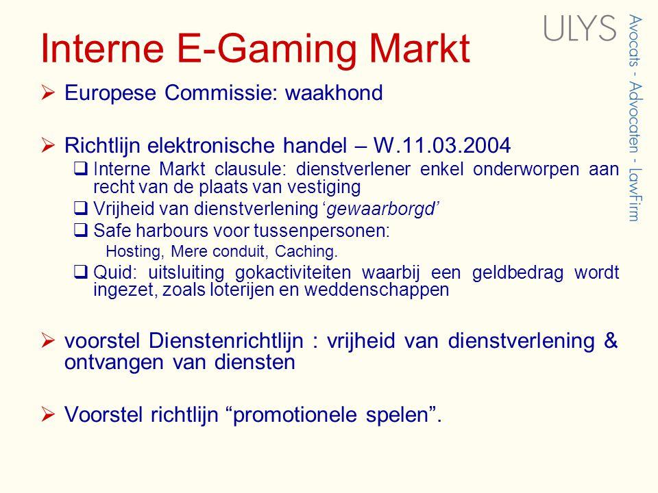Interne E-Gaming Markt