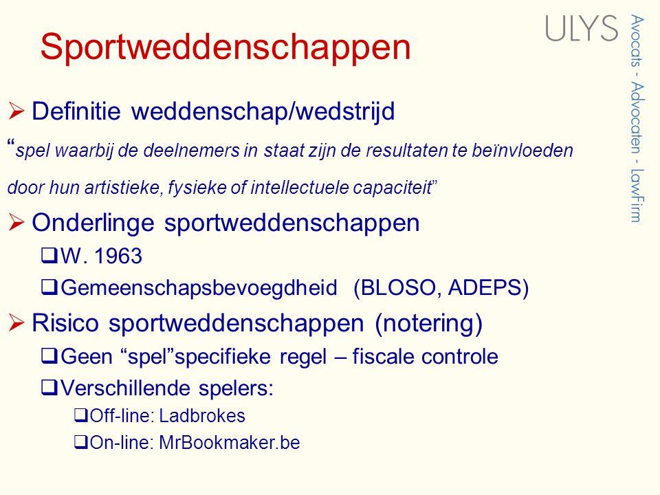 Sportweddenschappen Definitie weddenschap/wedstrijd