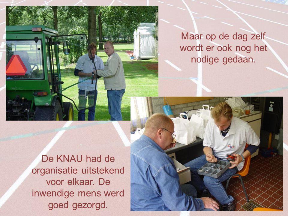 Maar op de dag zelf wordt er ook nog het nodige gedaan.