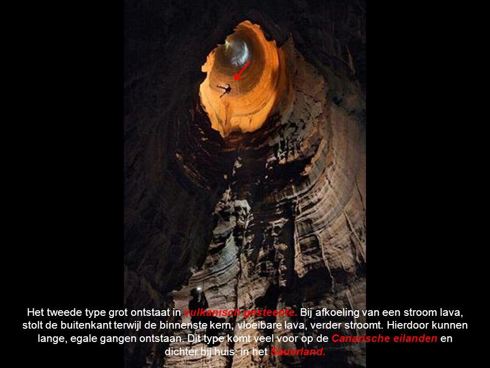 Het tweede type grot ontstaat in vulkanisch gesteente