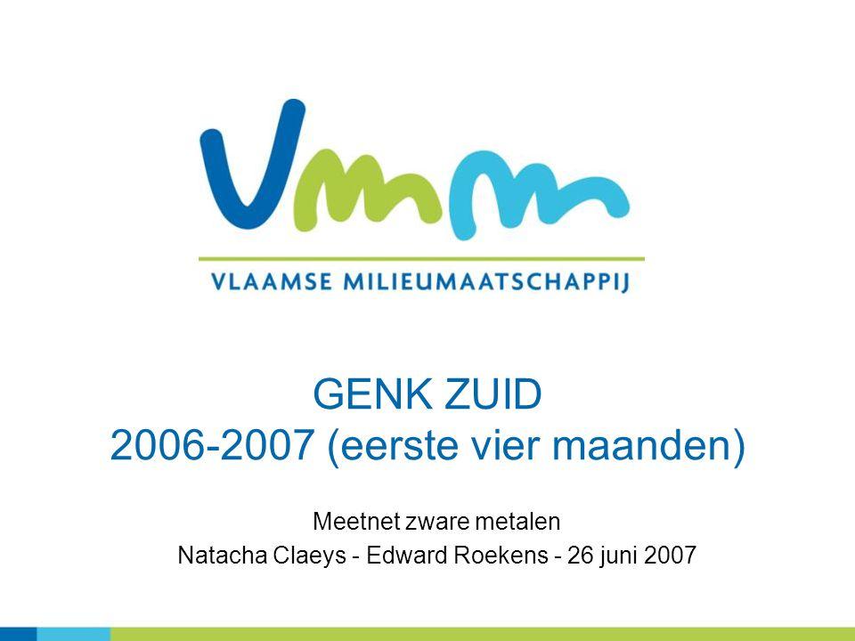 GENK ZUID 2006-2007 (eerste vier maanden)