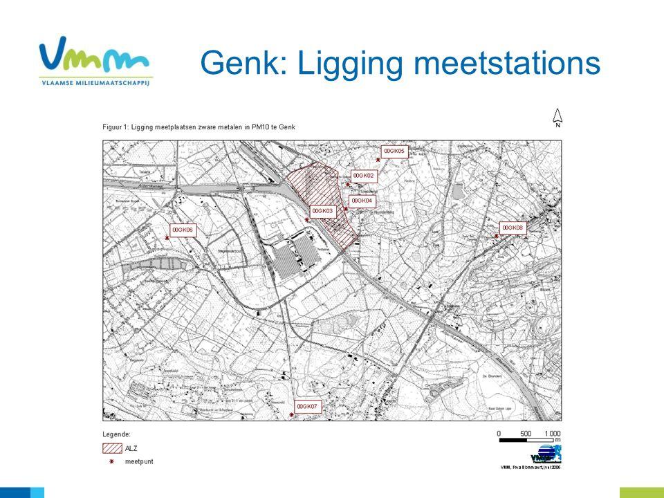 Genk: Ligging meetstations
