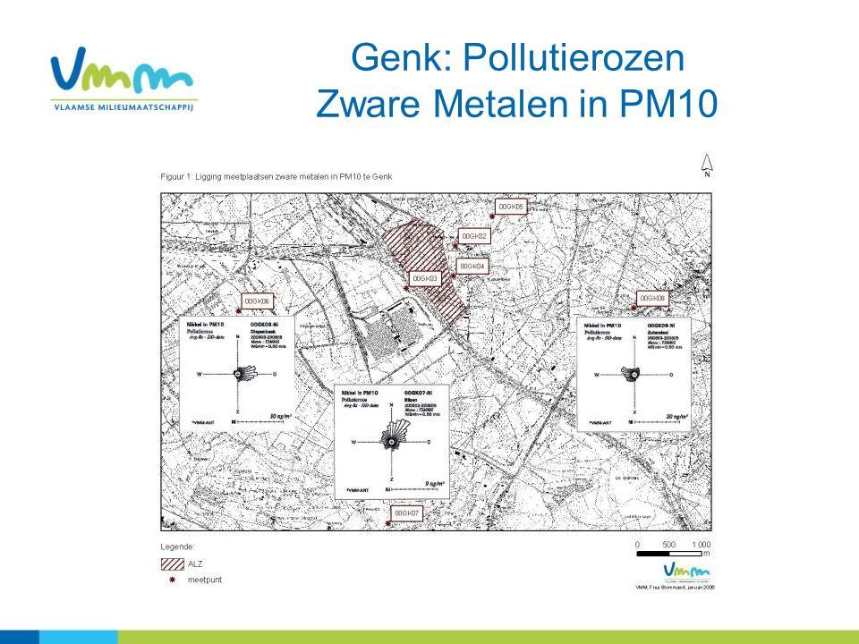 Genk: Pollutierozen Zware Metalen in PM10