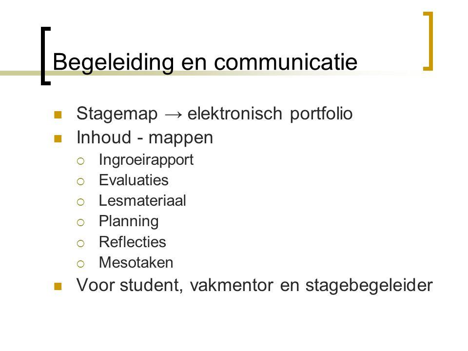 Begeleiding en communicatie