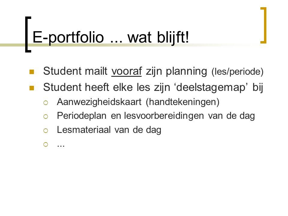 E-portfolio ... wat blijft!