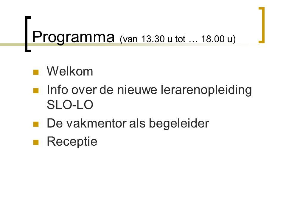 Programma (van 13.30 u tot … 18.00 u)