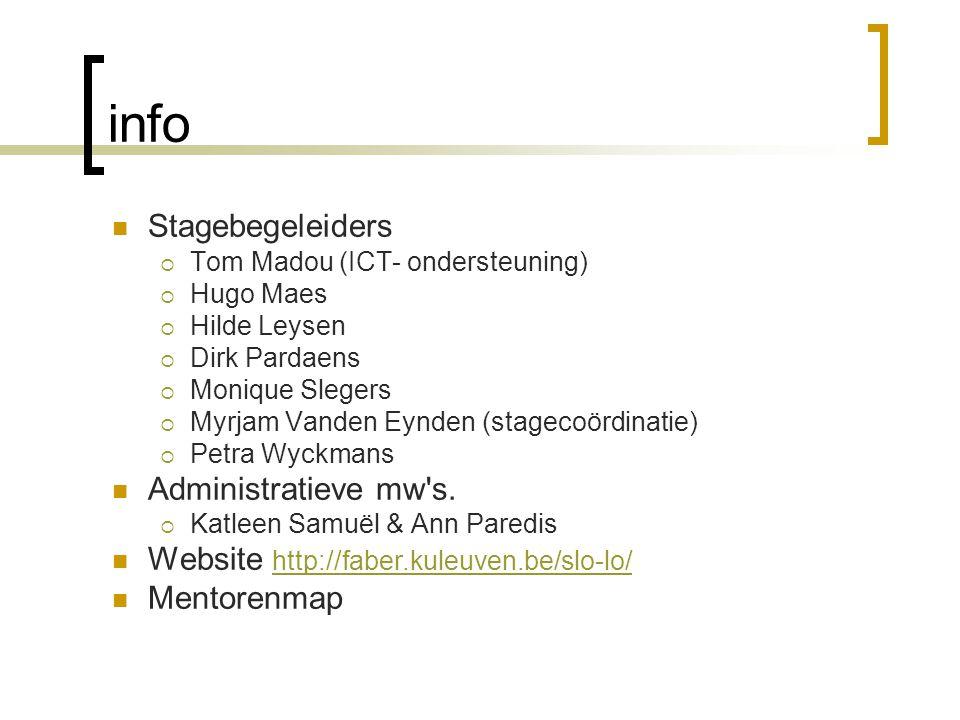 info Stagebegeleiders Administratieve mw s.