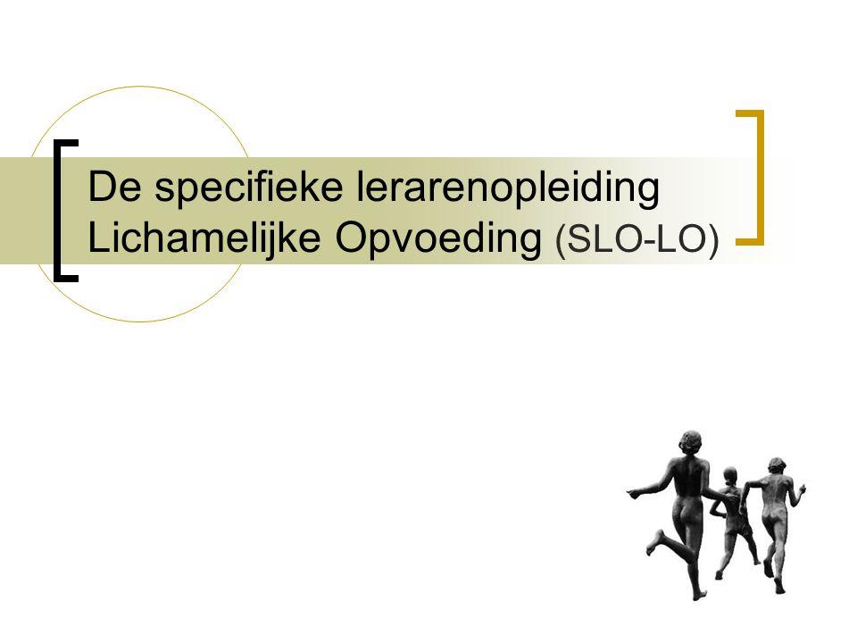 De specifieke lerarenopleiding Lichamelijke Opvoeding (SLO-LO)
