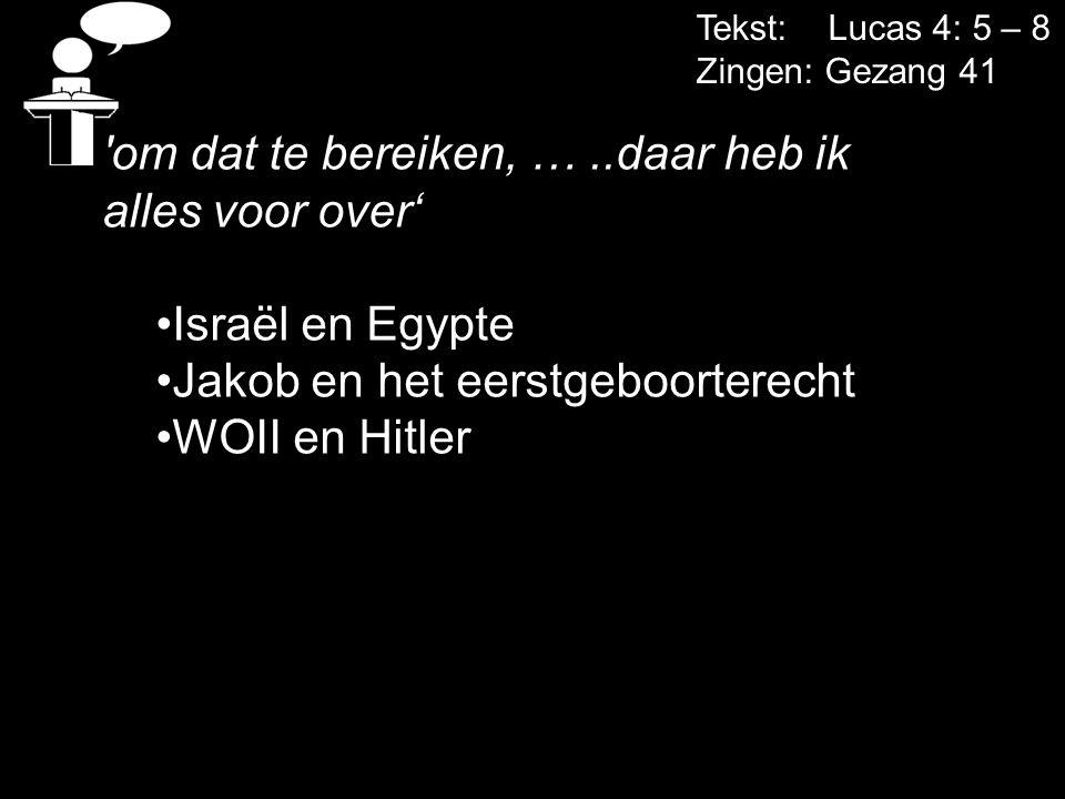 om dat te bereiken, … ..daar heb ik alles voor over' Israël en Egypte