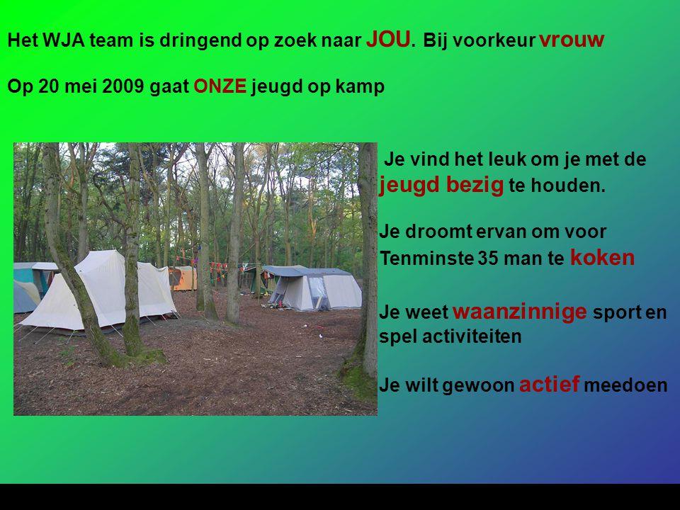Het WJA team is dringend op zoek naar JOU. Bij voorkeur vrouw