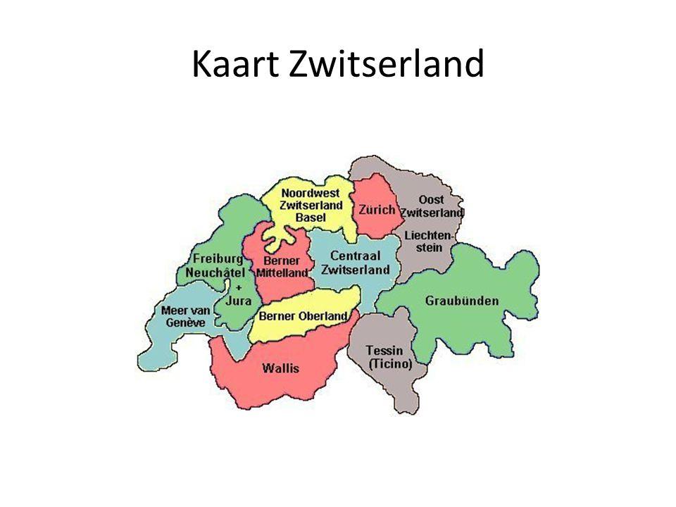 Kaart Zwitserland