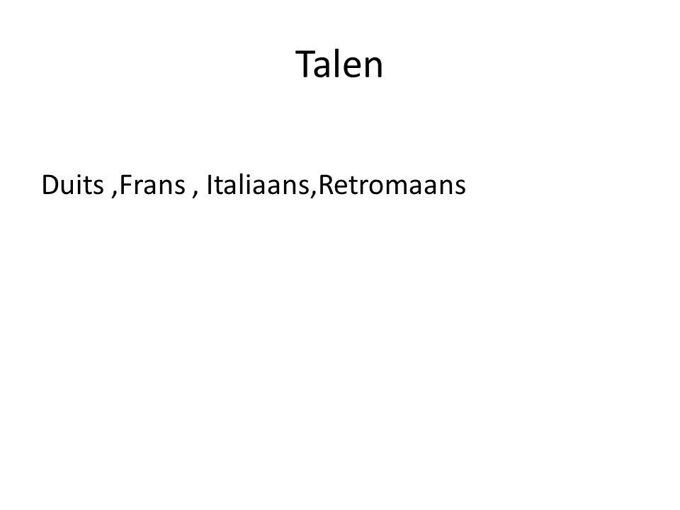 Talen Duits ,Frans , Italiaans,Retromaans