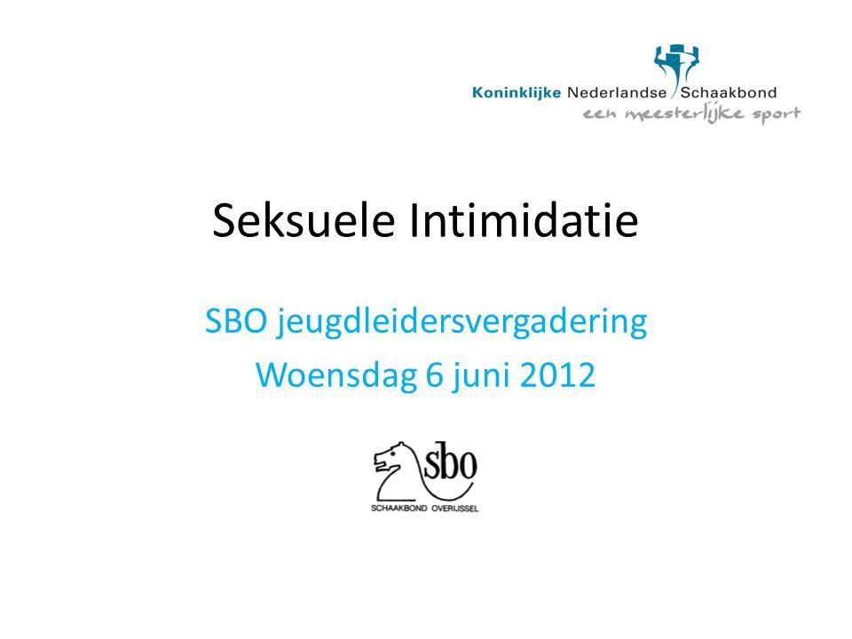 SBO jeugdleidersvergadering Woensdag 6 juni 2012