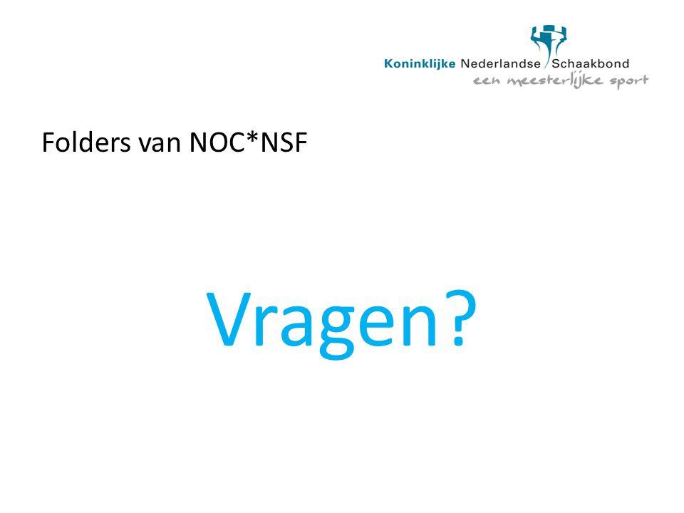 Folders van NOC*NSF Vragen