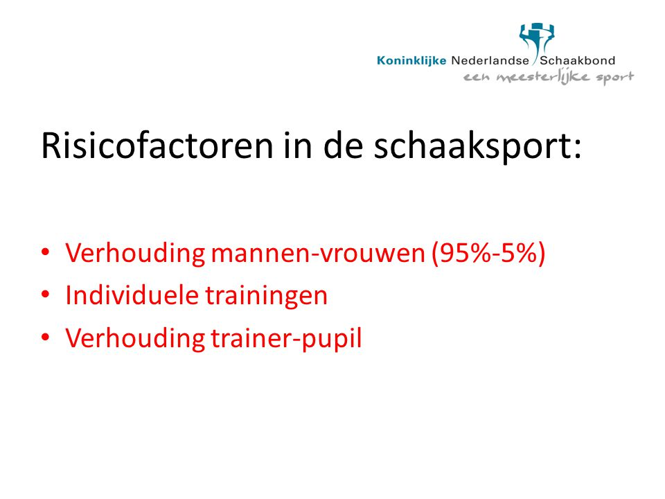 Risicofactoren in de schaaksport: