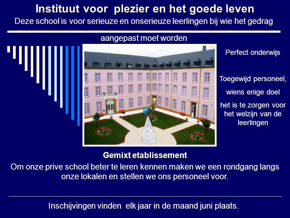 Instituut voor plezier en het goede leven
