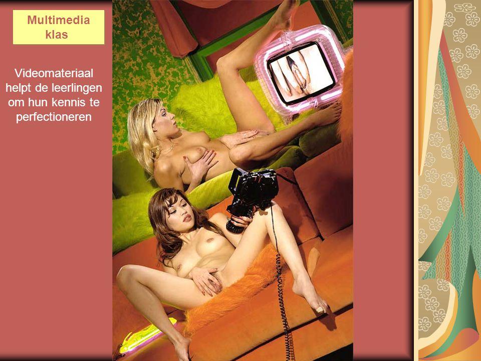 Videomateriaal helpt de leerlingen om hun kennis te perfectioneren