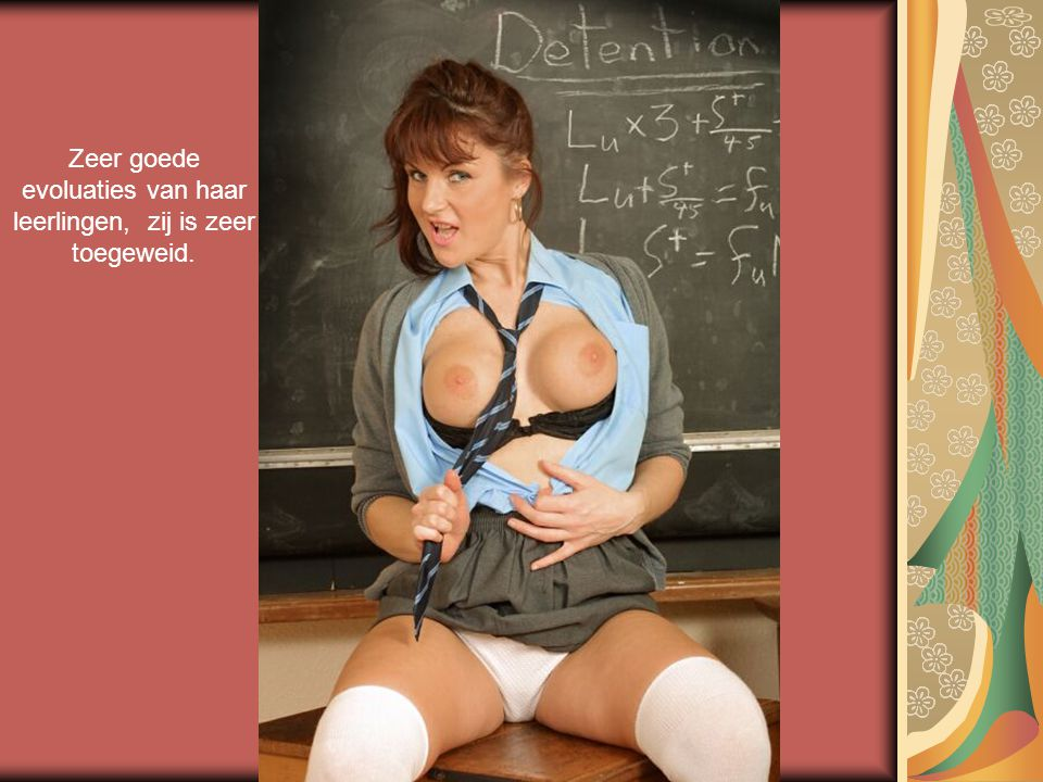 Zeer goede evoluaties van haar leerlingen, zij is zeer toegeweid.