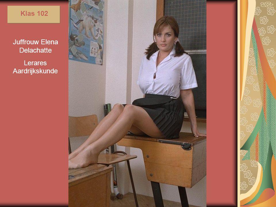 Juffrouw Elena Delachatte Lerares Aardrijkskunde