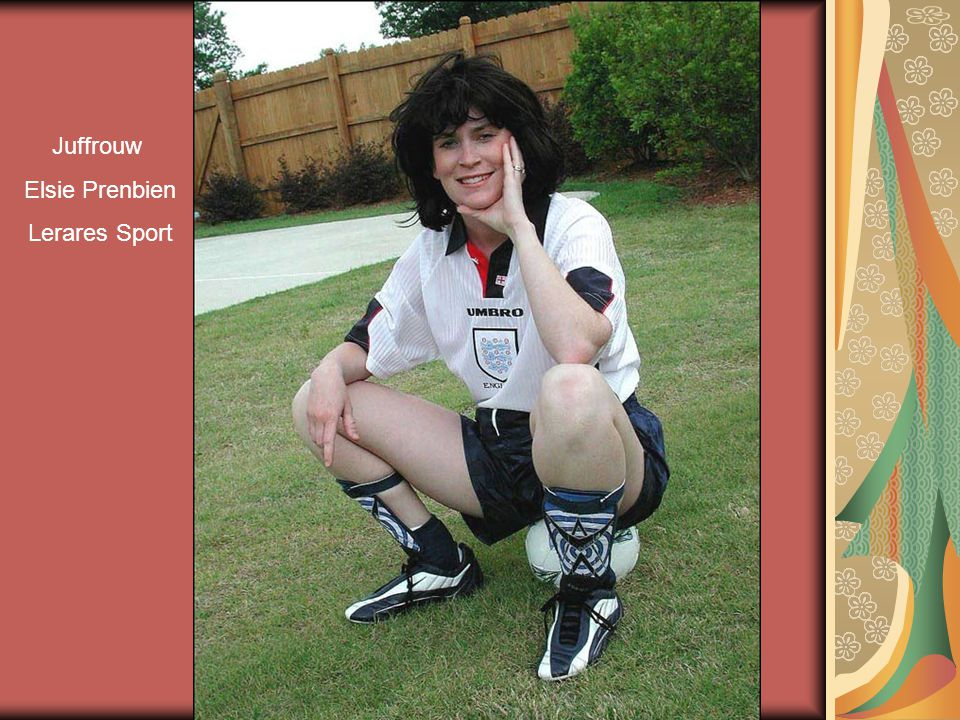 Juffrouw Elsie Prenbien Lerares Sport
