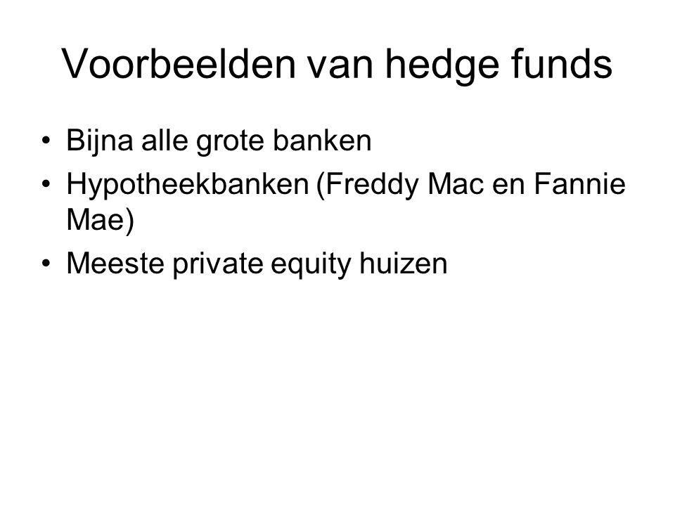 Voorbeelden van hedge funds