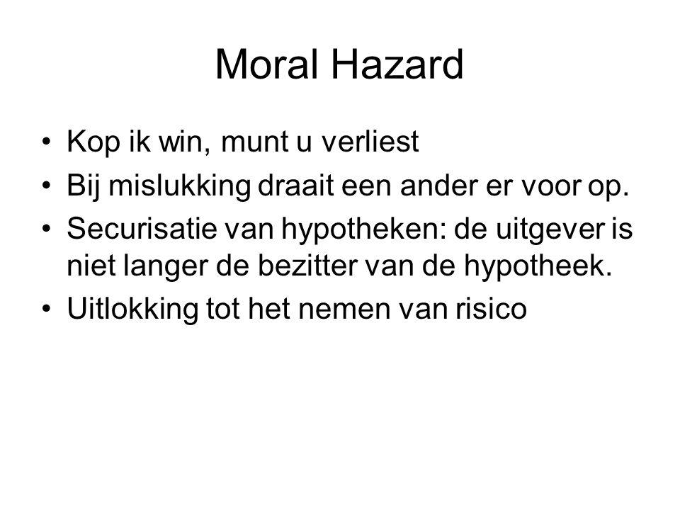 Moral Hazard Kop ik win, munt u verliest