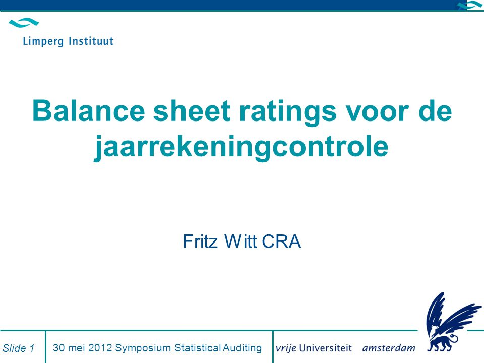 Balance sheet ratings voor de jaarrekeningcontrole