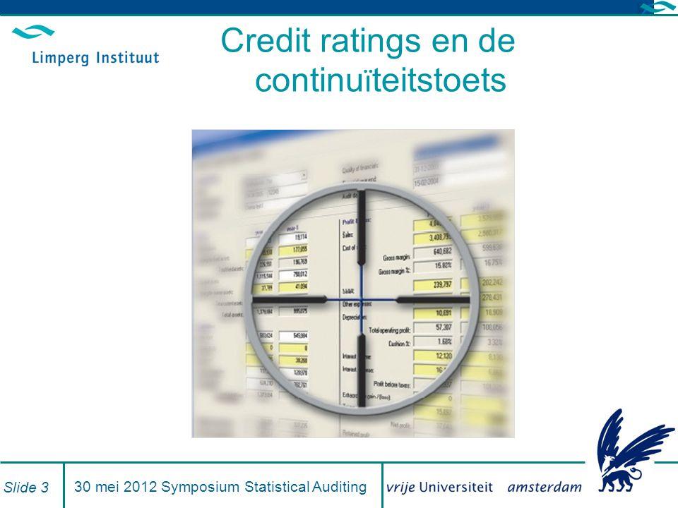 Credit ratings en de continuïteitstoets