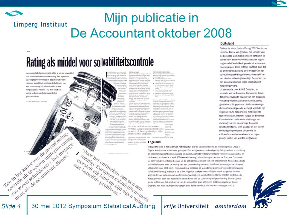 Mijn publicatie in De Accountant oktober 2008