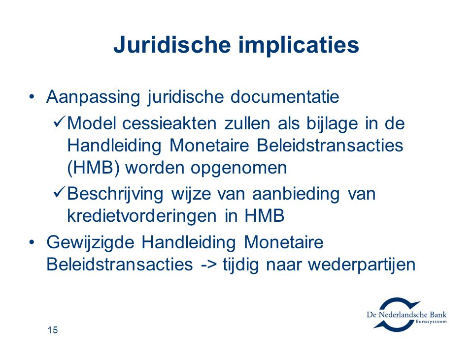 Juridische implicaties