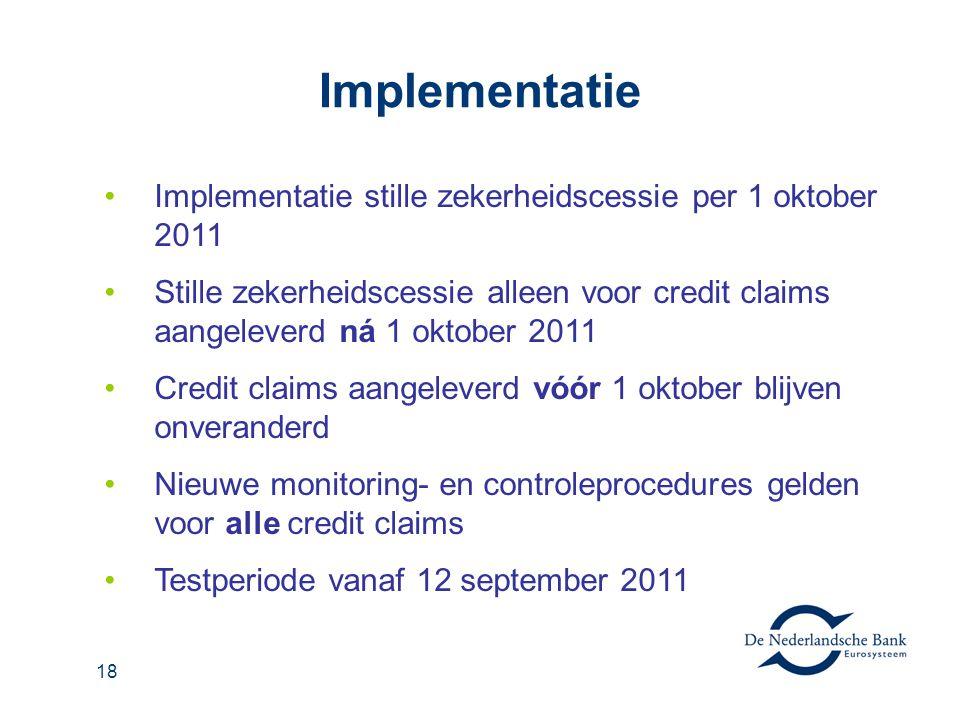 Implementatie Implementatie stille zekerheidscessie per 1 oktober 2011
