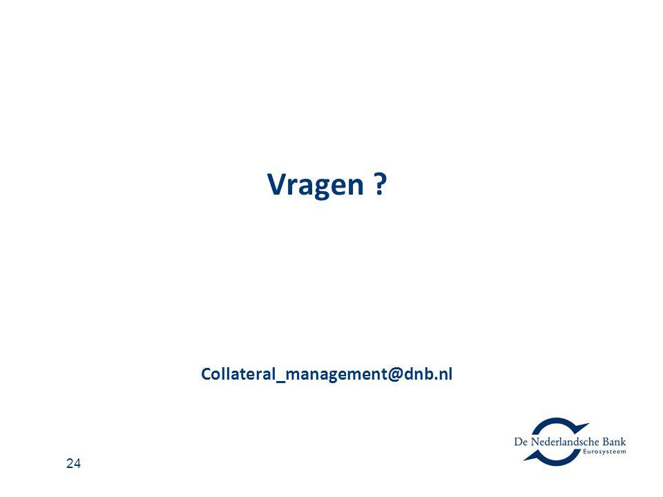 Vragen Collateral_management@dnb.nl