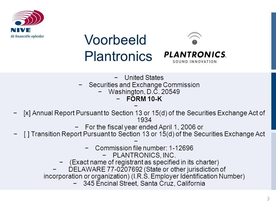 Voorbeeld Plantronics