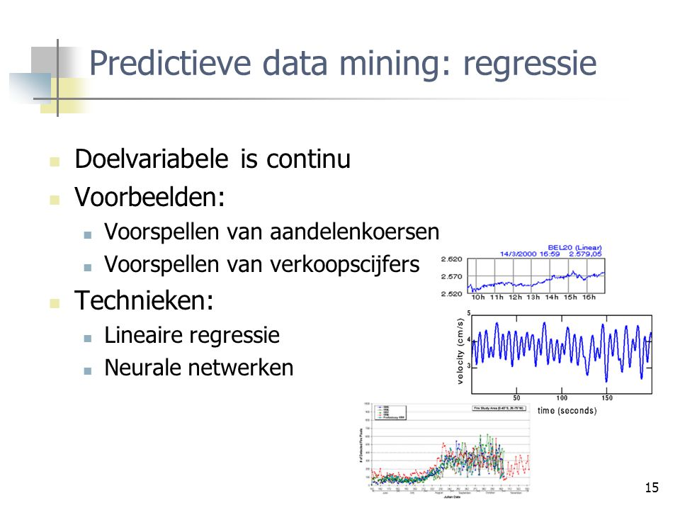 Predictieve data mining: regressie