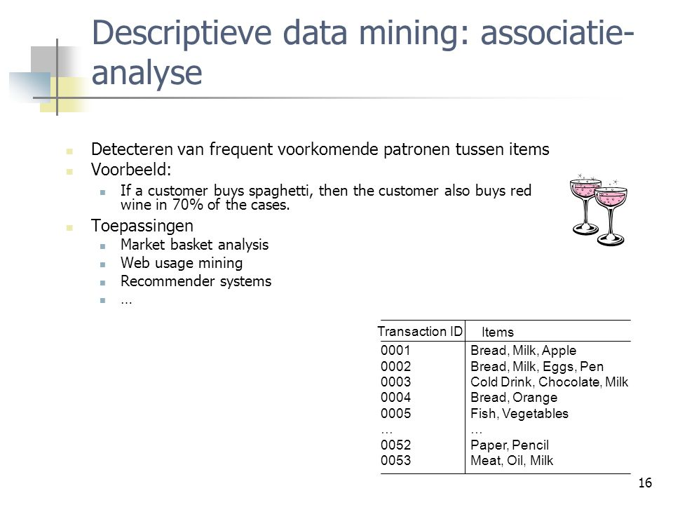 Descriptieve data mining: associatie-analyse