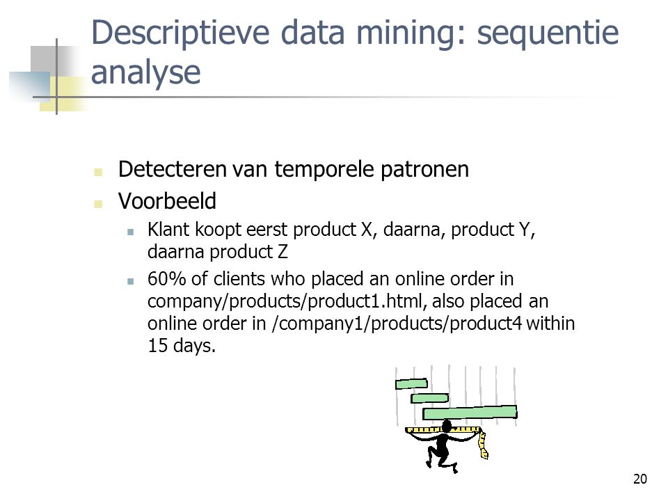 Descriptieve data mining: sequentie analyse