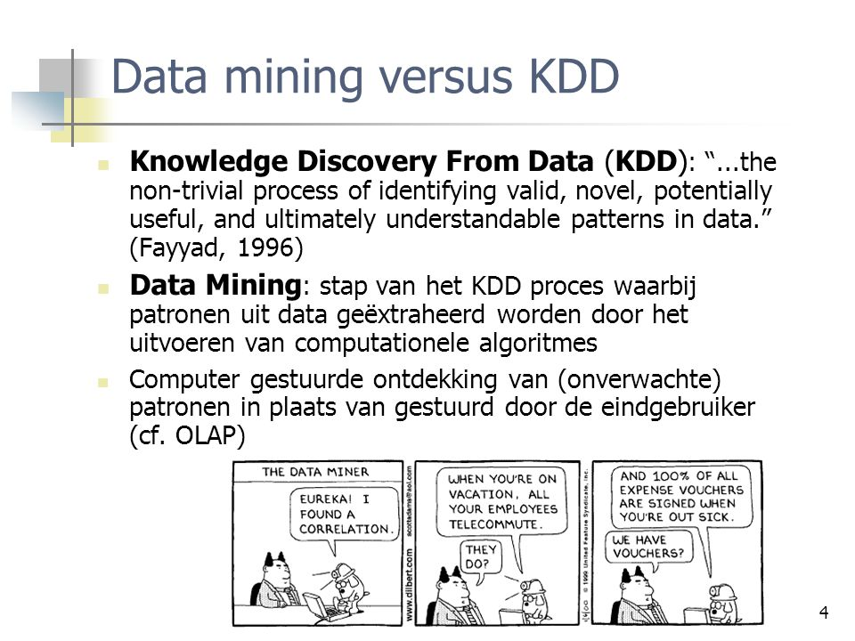 Data mining versus KDD