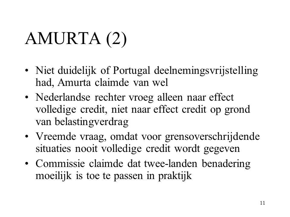 AMURTA (2) Niet duidelijk of Portugal deelnemingsvrijstelling had, Amurta claimde van wel.