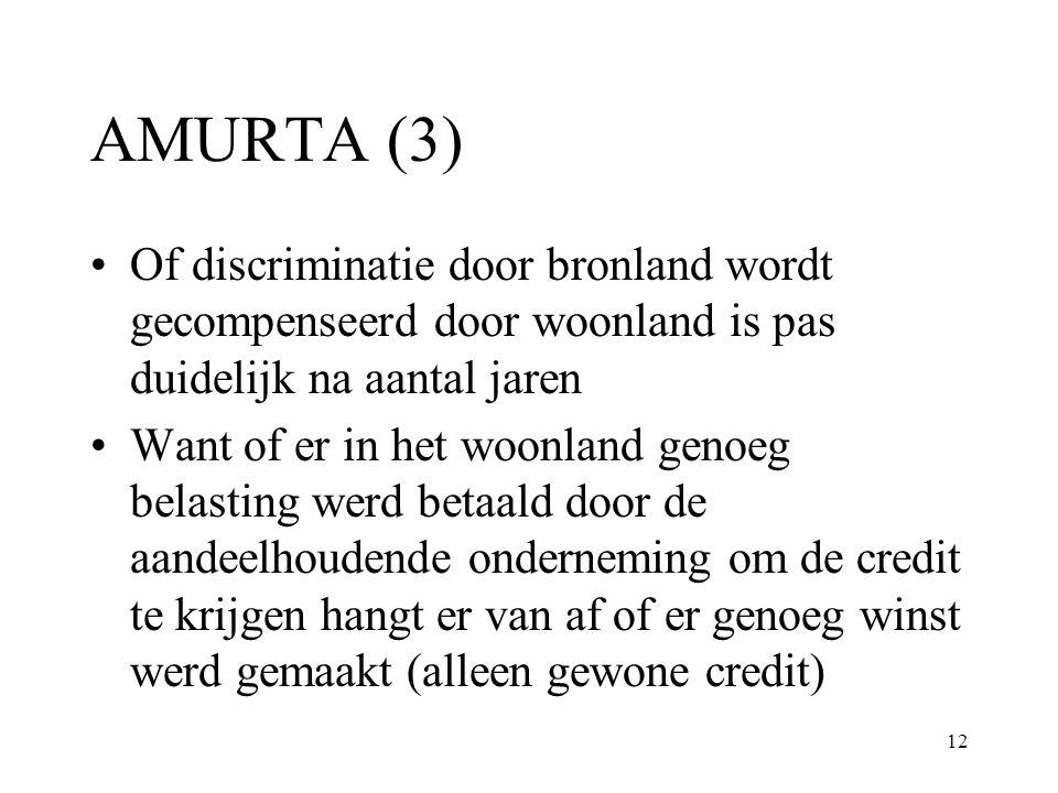 AMURTA (3) Of discriminatie door bronland wordt gecompenseerd door woonland is pas duidelijk na aantal jaren.
