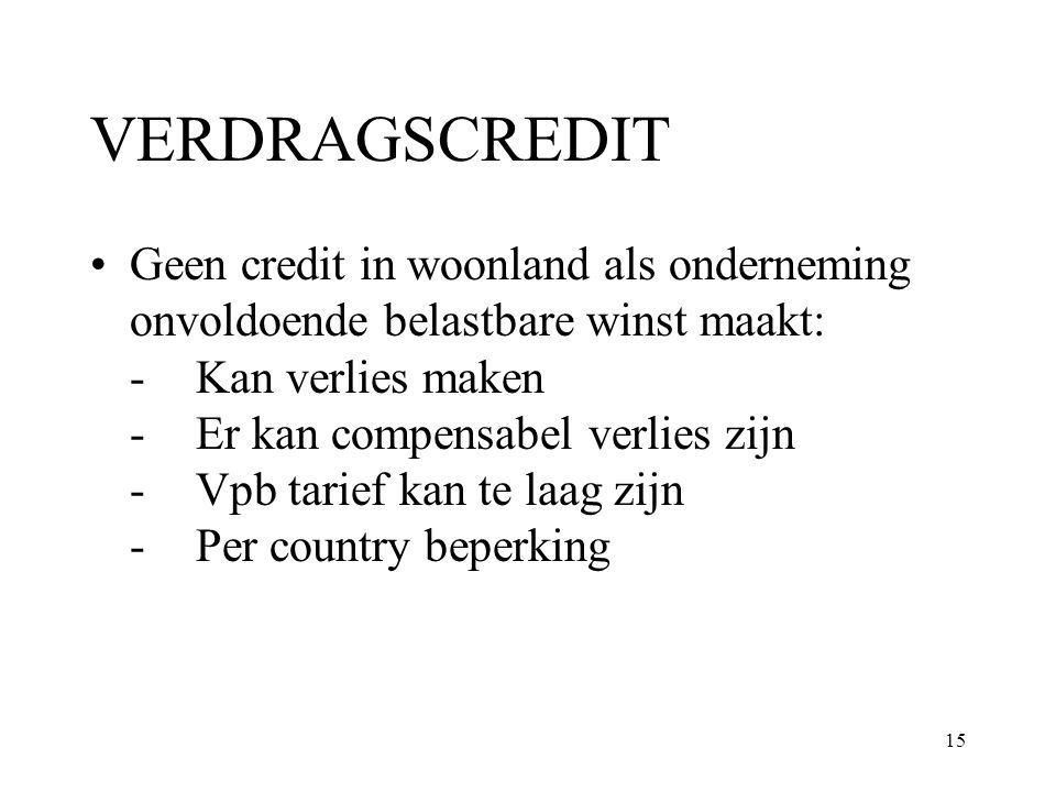 VERDRAGSCREDIT