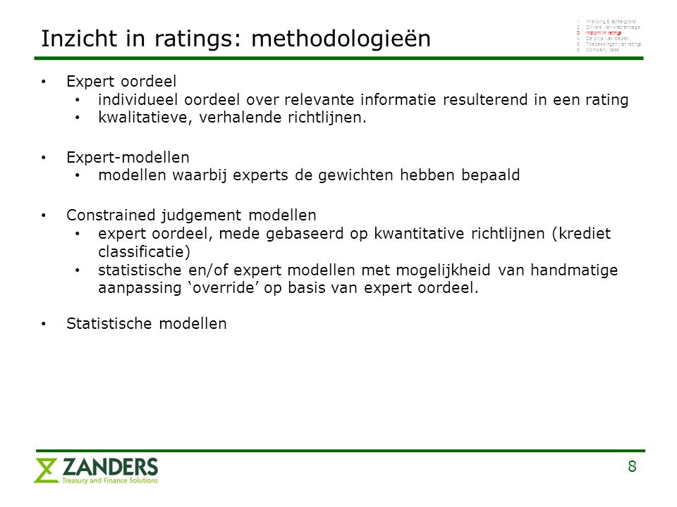 Inzicht in ratings: methodologieën