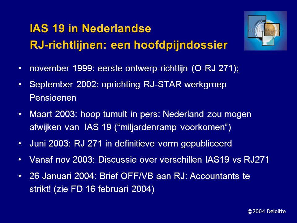 IAS 19 in Nederlandse RJ-richtlijnen: een hoofdpijndossier