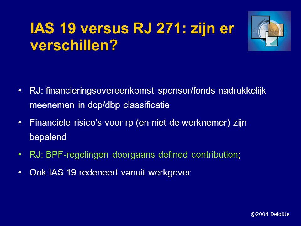IAS 19 versus RJ 271: zijn er verschillen