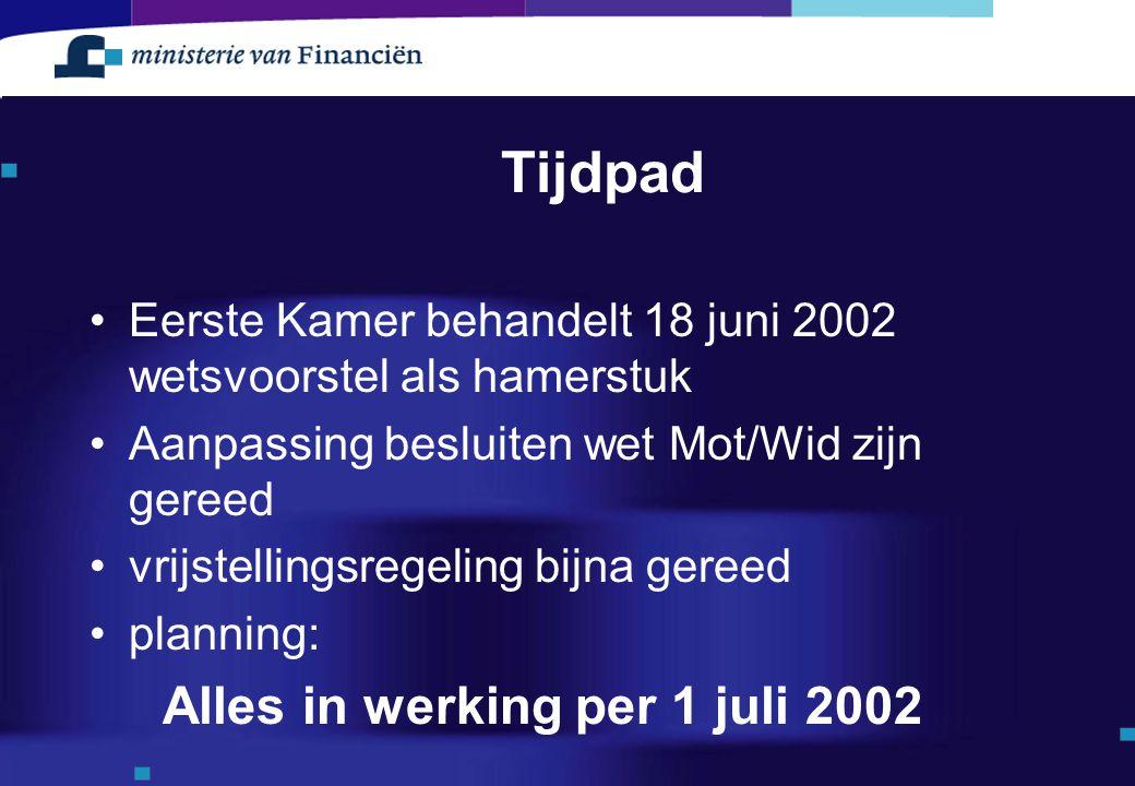 Tijdpad Alles in werking per 1 juli 2002