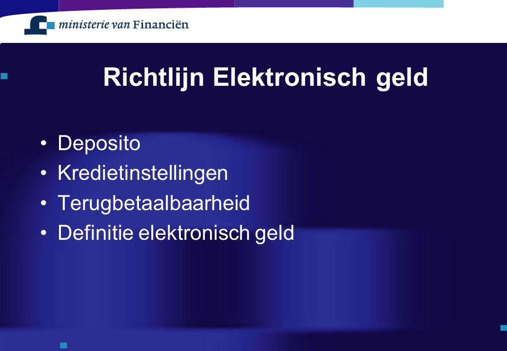 Richtlijn Elektronisch geld