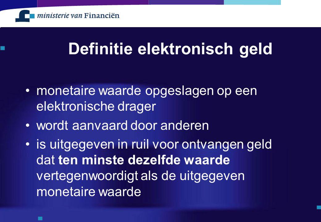 Definitie elektronisch geld