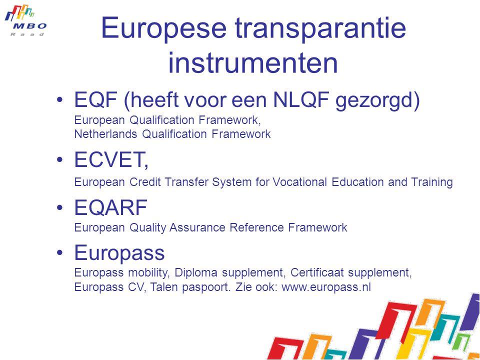 Europese transparantie instrumenten