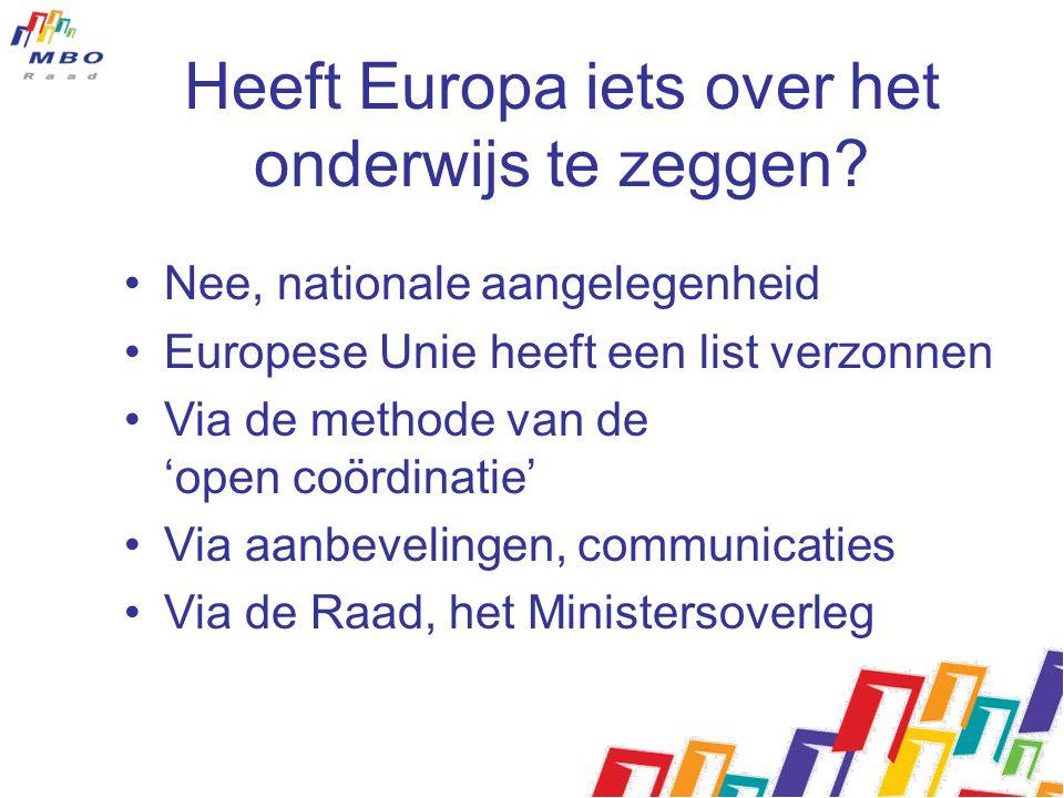 Heeft Europa iets over het onderwijs te zeggen